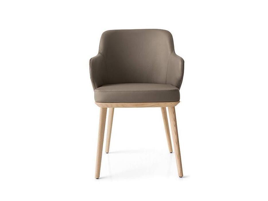 Calligaris: Foyer: стул  (дуб, кожа)