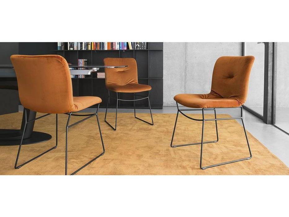 Calligaris: Annie soft: стул  (черный, оранж)