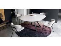 Calligaris: Atlante: стол обеденный  раскладной (белый, черный)