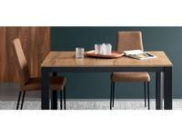 Calligaris: Duca: стол обеденный  (дуб табачного цвета)