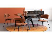 Calligaris: Jungle: стол обеденный  (черный мрамор, черный)