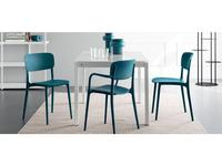 Calligaris: Liberty: стул  (синий)