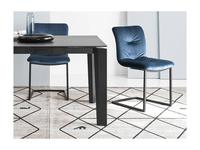 Calligaris: Annie soft: стул  (черный, синий)
