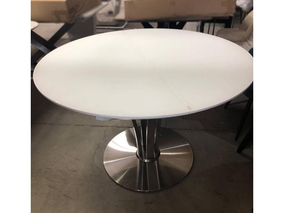 Megapolis: Kansas: стол обеденный раскладной (белый матовый)
