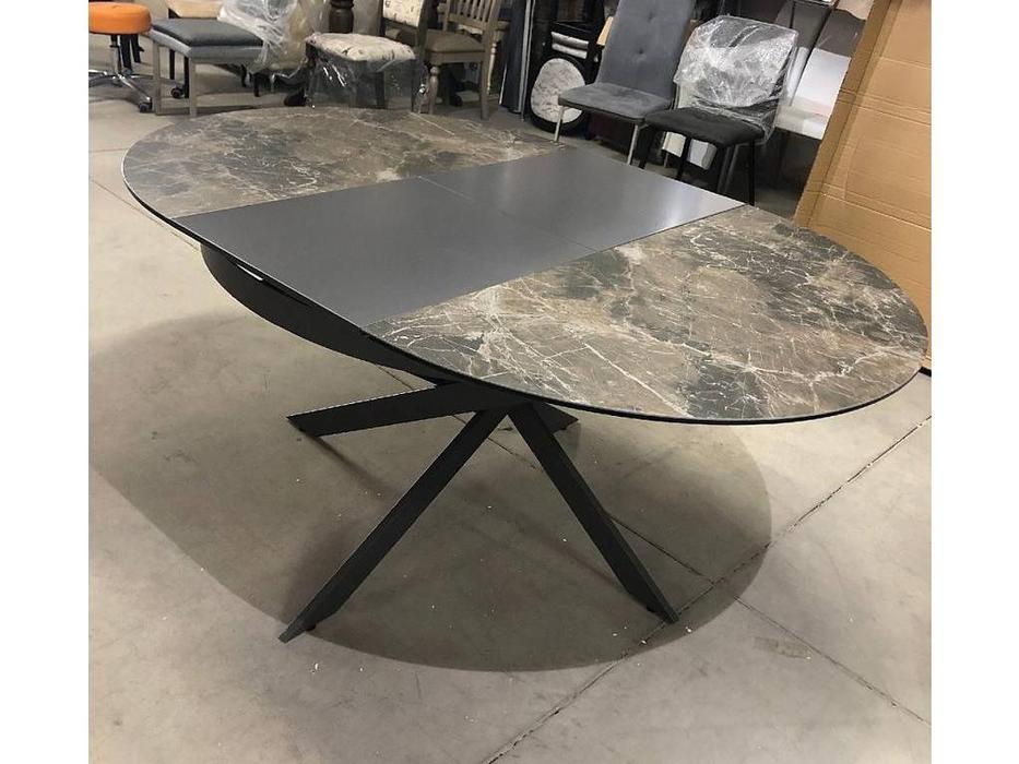 Megapolis: Trento: стол обеденный раскладной (графит, серый)