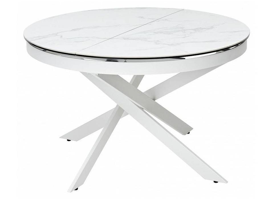 Megapolis: Trento: стол обеденный раскладной (белый)