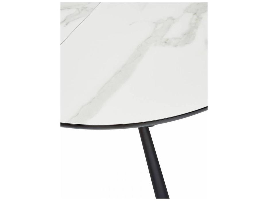 Megapolis: Voland: стол обеденный  раскладной (белый мрамор)