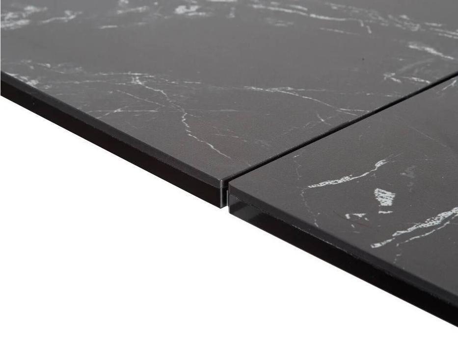 Megapolis: Severin: стол обеденный раскладной (черный мрамор, черный)