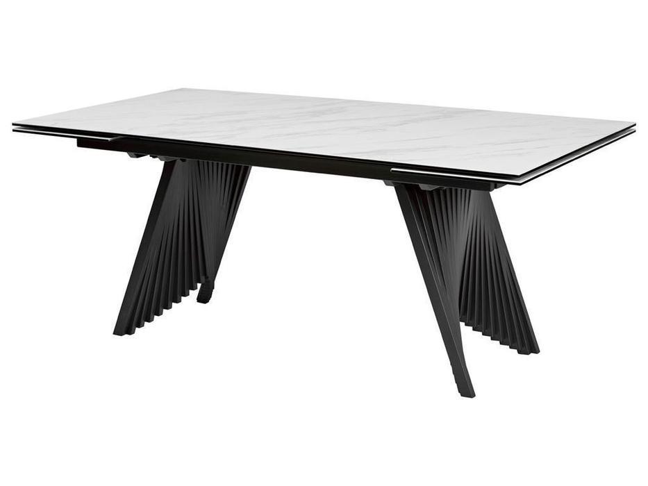 Megapolis: Ivar: стол обеденный раскладной (белый, черный)