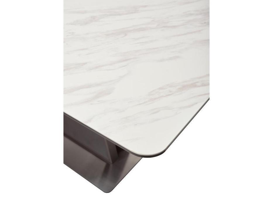 Megapolis: Osvald: стол обеденный раскладной (белый керамика)