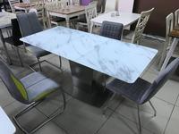 Megapolis: Caststeel: стол обеденный  раскладной (белый)