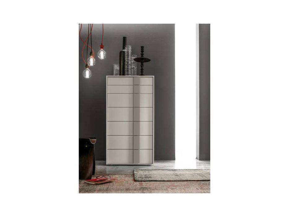 Santa Lucia: Projecta: комод высокий Quadro 12  (серый)