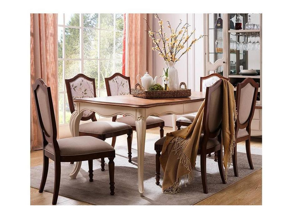 HFI: Florence: стол обеденный  раскладной (молочный, орех)