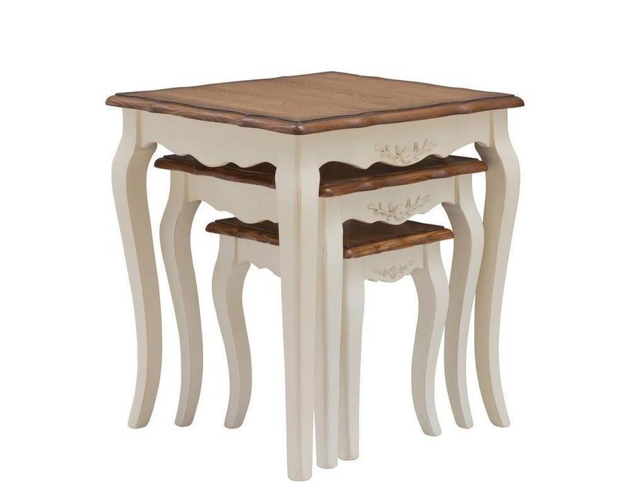 HFI: Florence: стол журнальный  комплект (молочный, орех)