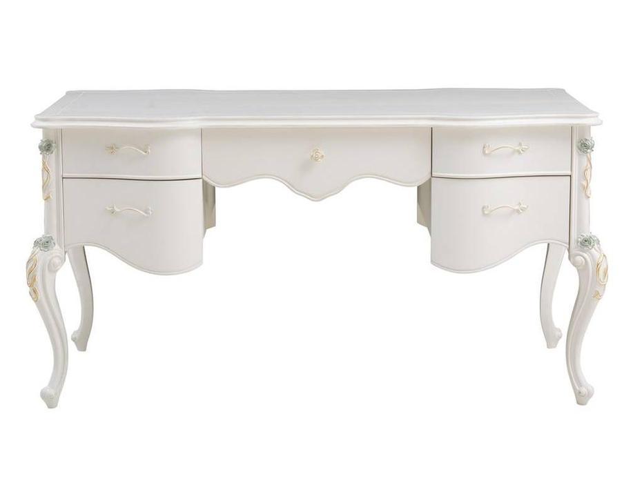 HFI: Luisa: стол письменный  (белый с золотом)