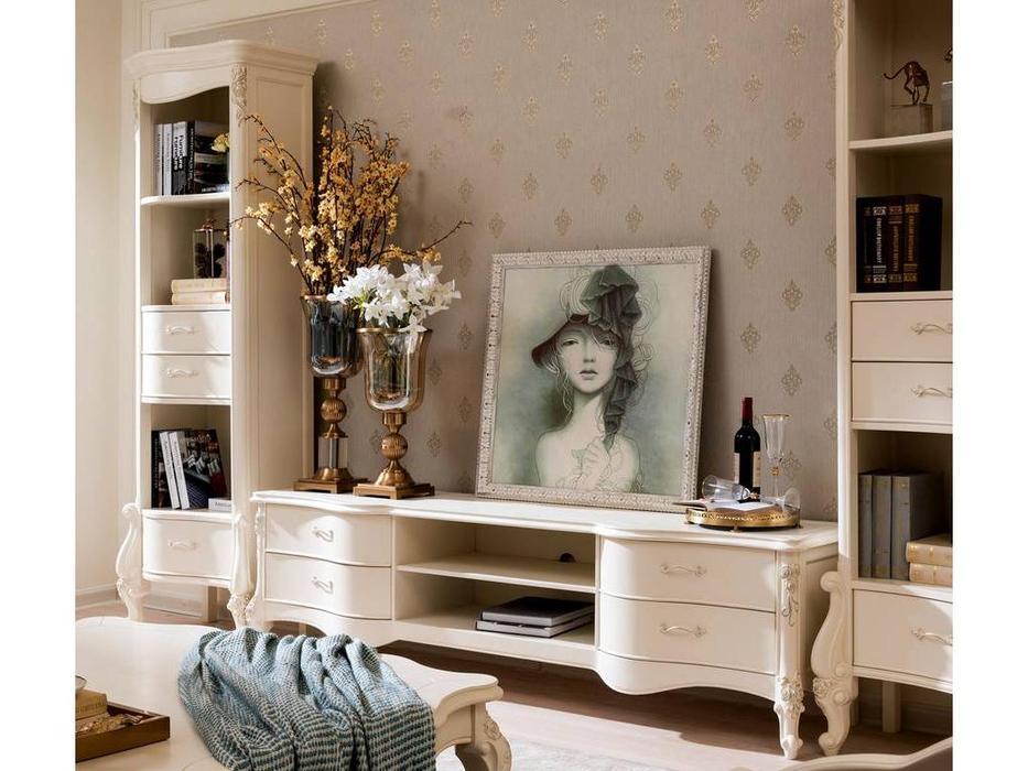 HFI: Luisa: тумба под телевизор  (белый с золотом)