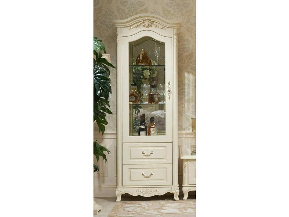 HFI: Милано: витрина 1 дверная  левая (слоновая кость)