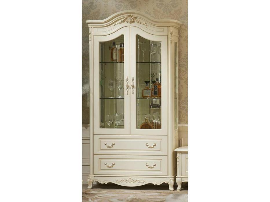 HFI: Милано: витрина 2 дверная  (слоновая кость)