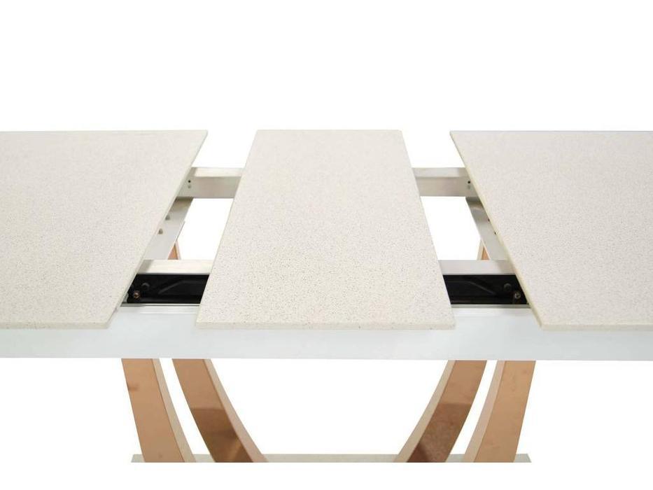 HFI: MK: стол обеденный  раскладной (белый)