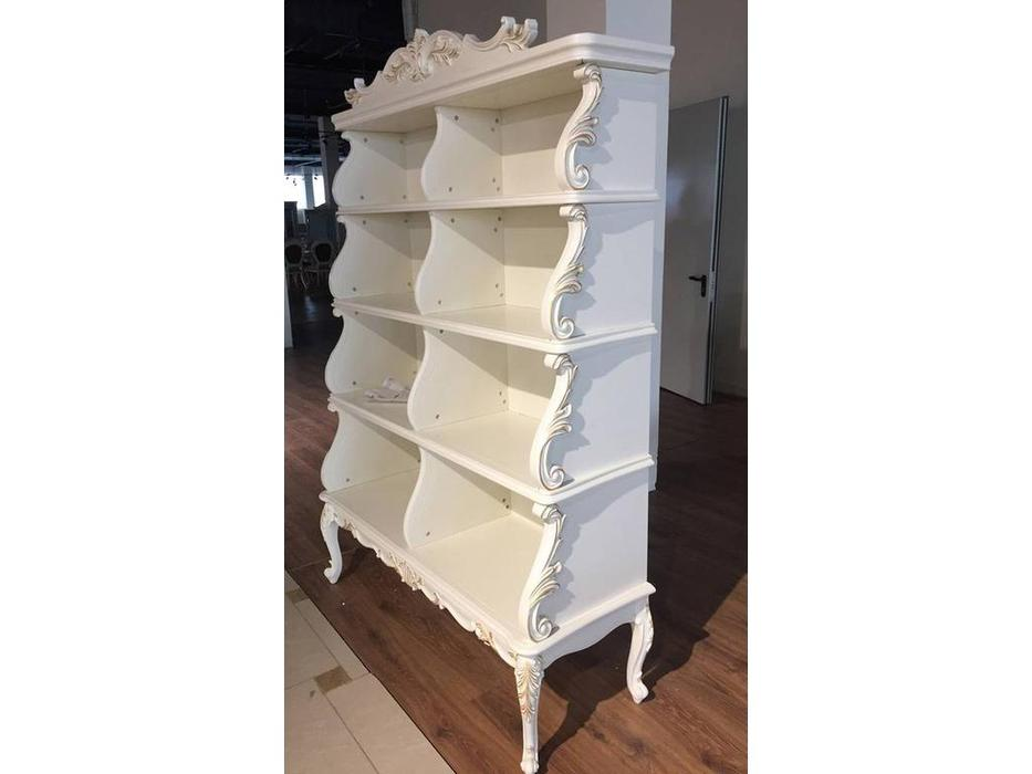 HFI: Shantal: шкаф книжный  (белый, золото)