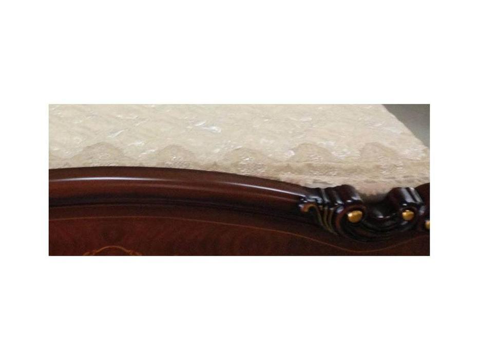 HFI: Аманда: кровать 160х200  (темный орех, золото)