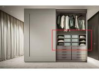 ALF: Glide: полка  внутренняя для шкафа (серый, матовый)