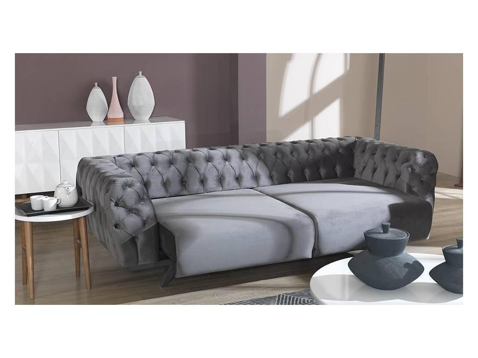 Rendi: Minda: диван 3 местный  (серый)