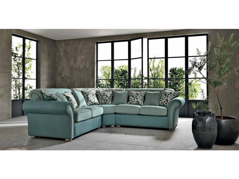 Cis Salotti: Topazio: диван угловой (голубой)