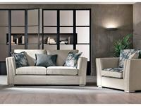 Cis Salotti: Teseo: диван 3 местный раскладной (светло бежевый)