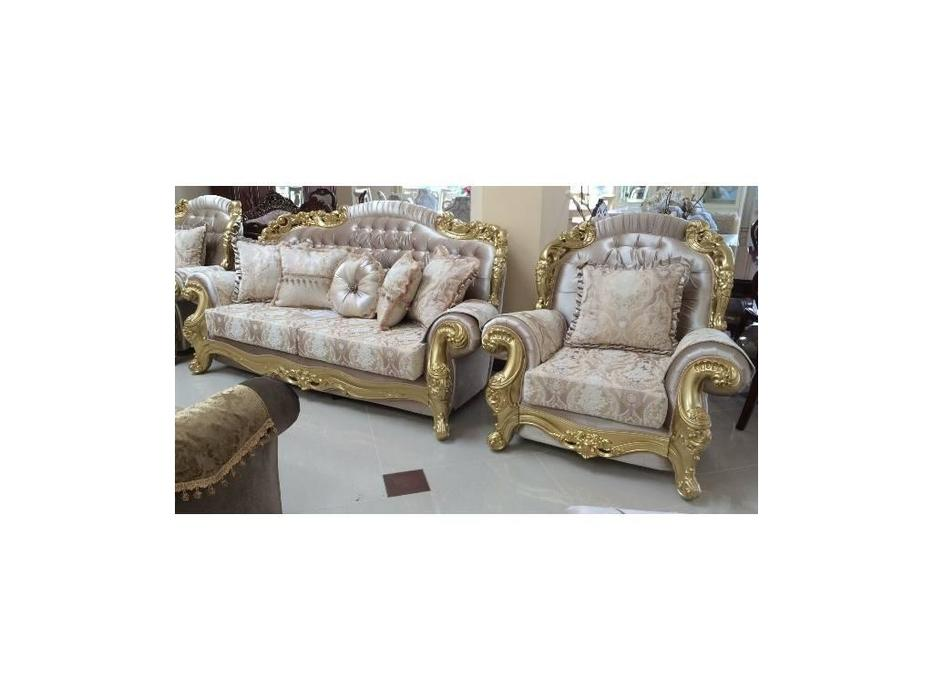 Ustie: Венеция: диван 3 местный раскладной Венеция 12 (крем)