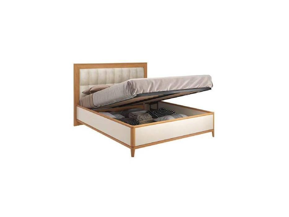 ММ: Модена: кровать  160х200 с подъемным мех-м (орех, мокко)
