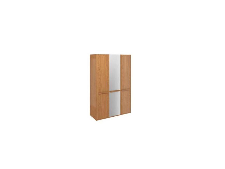 ММ: Модена: шкаф 3 дверный с зеркалом (орех)