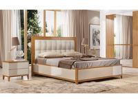 ММ: Модена: кровать двуспальная  160х200 (орех)