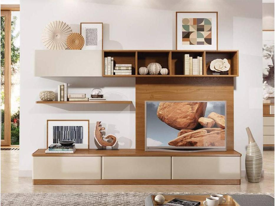 ММ: Модена: стенка в гостиную композиция №1 (орех, мокко)