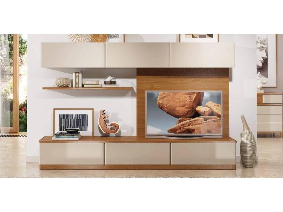 ММ: Модена: стенка в гостиную композиция №2 (орех, мокко)