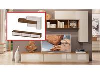 ММ: Модена: стенка в гостиную композиция №6 (орех, мокко)