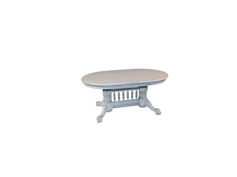 Florence: Hndt: стол обеденный  раскладной (античный белый, патина)