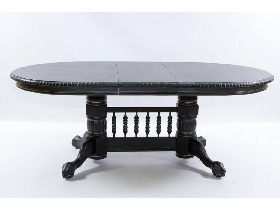 Florence: Hndt: стол обеденный  раскладной (античный черный с патиной)