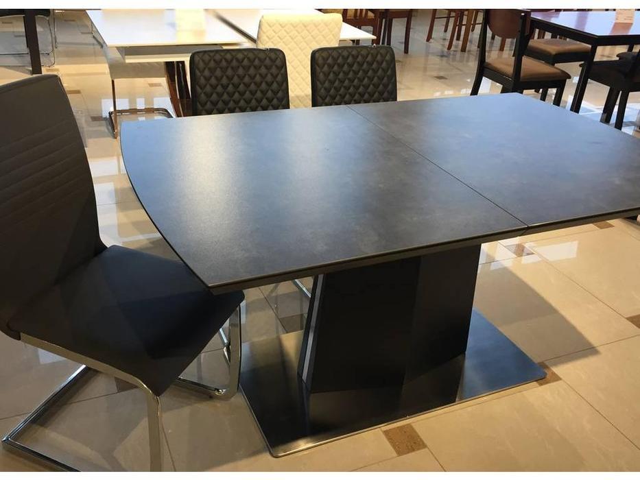 Florence: Ceram: стол обеденный  раскладной (графит)