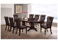 HFI: Lusa: стол обеденный  раскладной (орех темный)