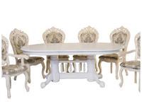 Florence: Hndt: стол обеденный  раскладной (античный белый, золото)