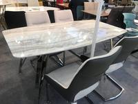 HFI: Престиж: стол обеденный  (хром, белый)