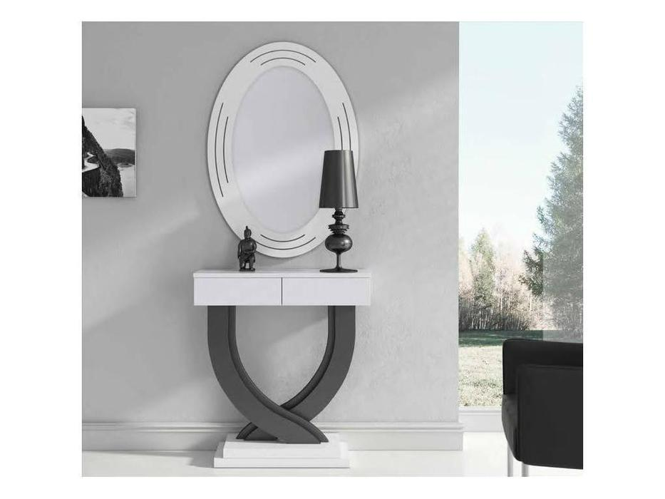Disemobe: Moderno: консоль  с зеркалом (белый, графти)