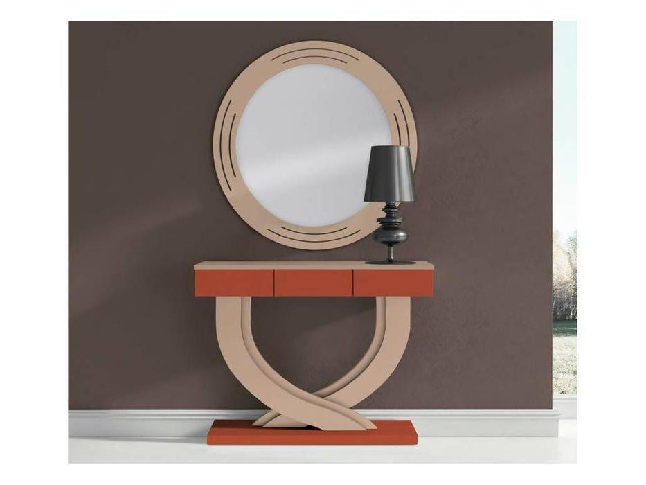 Disemobel: Moderno: консоль  с зеркалом (бежевый, оранж)