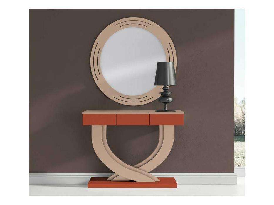Disemobe: Moderno: консоль  с зеркалом (бежевый, оранж)