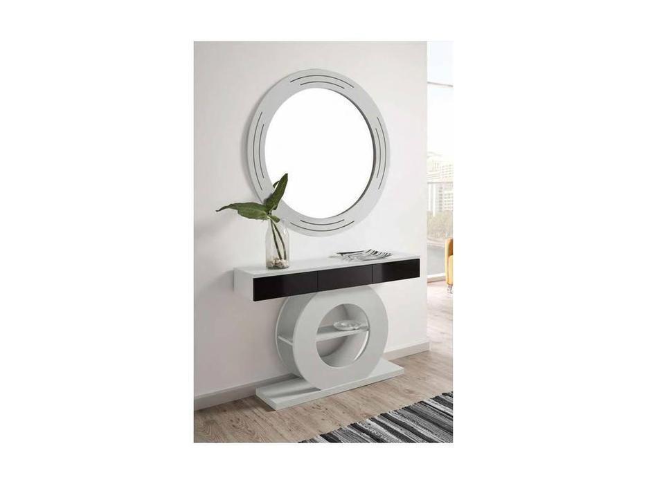 Disemobel: Moderno: консоль  с зеркалом (серый, черный)