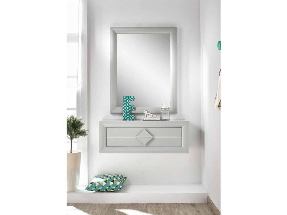 Disemobe: Moderno: консоль  навесная с зеркалом (серый)