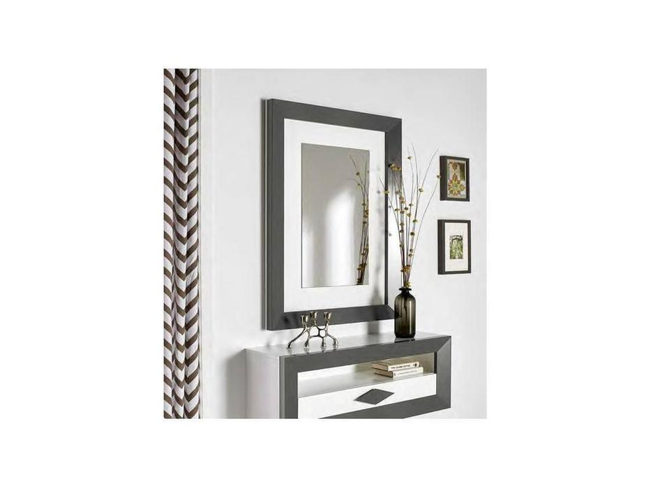 Disemobe: Moderno: зеркало настенное  (темно серый, белый)