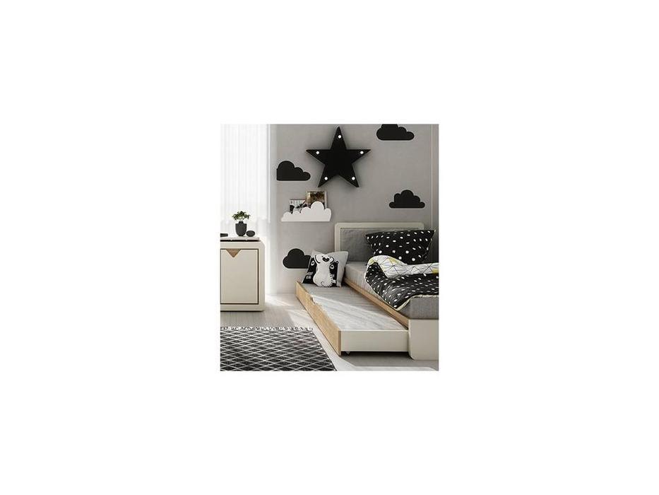 Timoore: Frame: ящик  с матрасом под кровать (дуб, кремовый)