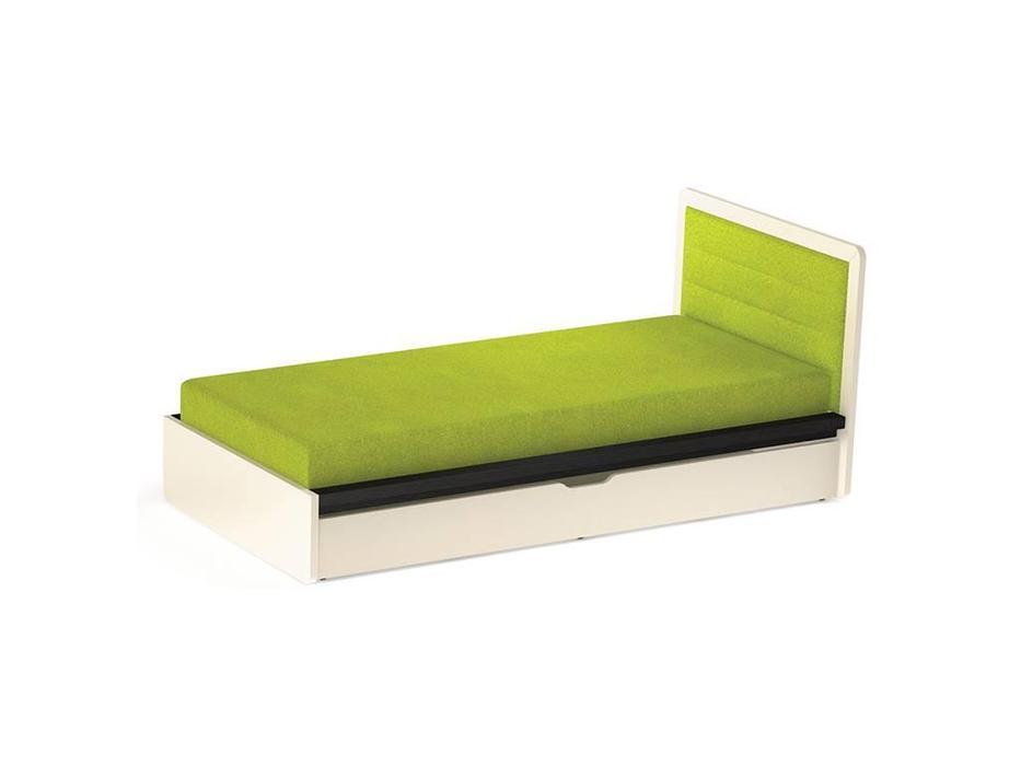 Timoore: Frame: кровать односпальная  90х200 (графит, кремовый)